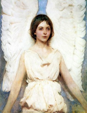 Angel, painted by Abbot Thayer