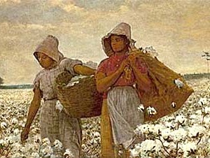 """Is this wheat, or chaff?"" ""It's cotton, stupid."" Image courtesy of Winslow Homer."