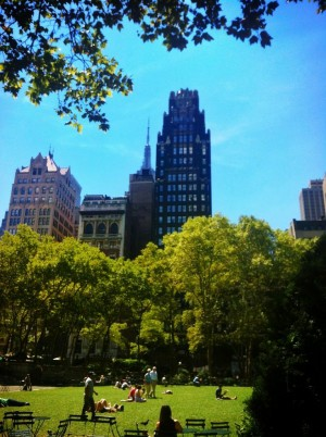 American Radiator Building, seen from Bryant Park. Photo belongs to me.