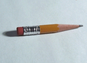 This pencil stub is a metaphor.