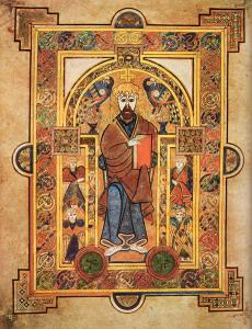 An illuminated drawing of St. Patrick